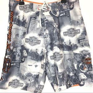 Harley Davidson Men's 34 Board Shorts Swim Trunks